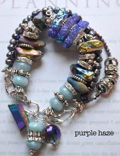 ON SALE chunky charm bracelet druzy bracelet multi by soulfuledges
