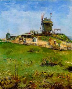 """""""La Moulin de la Gallette,"""" by Vincent Van Gogh (1887)"""