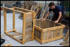 repurposed pallets for raised bed ~pinned for visual plans~