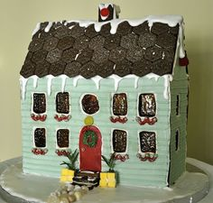 Gingerbread Town House #gingerbread #house