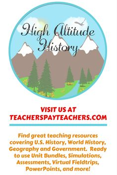 Browse over 710 educational resources created by High Altitude History in the official Teachers Pay Teachers store. Teacher Blogs, Teacher Resources, Teacher Pay Teachers, Modern World History, Ancient World History, Social Studies Resources, Grades, How To Get Followers, Free Products