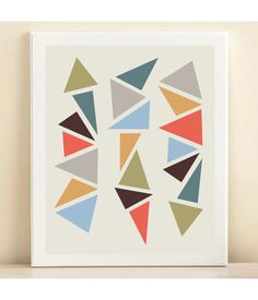 Small Geometric Triangles print poster by AmandaCatherineDes, $15.00