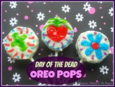 Day of the Dead Oreo Pops