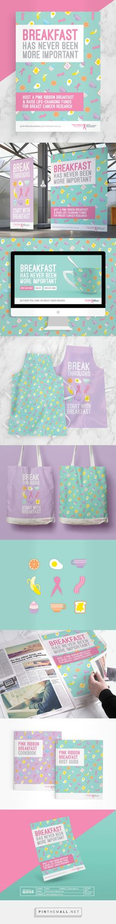 National Breast Cancer Foundation Pink Ribbon Breakfast Branding by Shanti Sparrow Design | Fivestar Branding Agency – Design and Branding Agency & Curated Inspiration Gallery  #design #designideas #designinspiration #branding #identity #posters