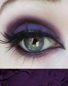 Concrete Minerals Pro Matte Eyeshadow Queen This is a very pigmented purple matte eyeshadow look. Makeup Trends, Makeup Inspo, Makeup Art, Beauty Makeup, Makeup Ideas, Face Makeup, Scene Makeup, Glowy Makeup, Makeup Stuff
