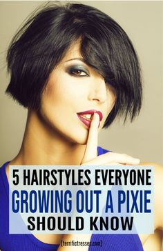 Truth is the right hairstyles for growing out a pixie cut can be cute at each stage. Just takes having ideas which most of us are starved for. We know about the awkward phase. We know that stage in-between very short and short hair is challenging. But if you're looking to grow out your pixie cut your life just got five times easier. That's how many styles this guide has for you.  Real styles for real short hair. Must see. #HairstylesForGrowingOutAPixie