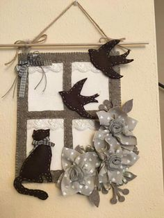 Felt Crafts, Wood Crafts, Diy And Crafts, Christmas Crafts, Xmas Stockings, Christmas Makes, Felt Diy, Felt Dolls, Handmade Decorations