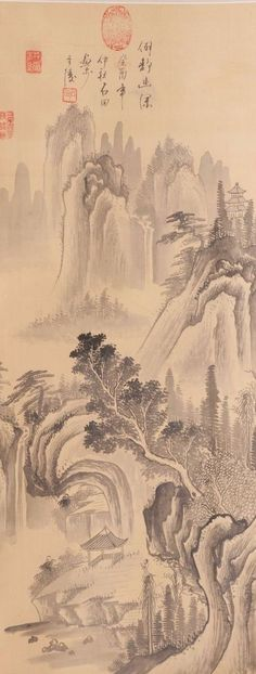 Check out Chinese hanging scroll Landscape painting on silk Antique wall art hs0729  http://www.ebay.com/itm/Chinese-hanging-scroll-Landscape-painting-on-silk-Antique-wall-art-hs0729-/112027400206?roken=cUgayN&soutkn=dLfNIg