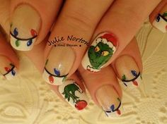 My favorite Grinch nail art by Stoneycute1 - Nail Art Gallery nailartgallery.nailsmag.com by Nails Magazine www.nailsmag.com #nailart