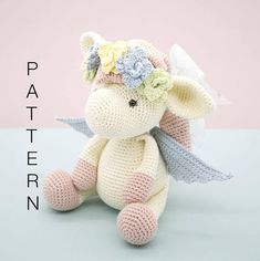 Amigurumi crochet doll pattern Harriet the Pegasus PATTERN