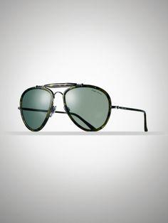 Ralph Lauren Vintage Pilot Sunglasses - Camo Green