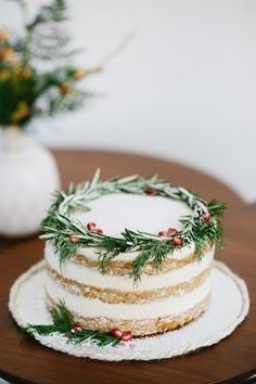 winter christmas cakes