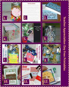Teacher Appreciation Day Free Printables