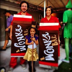 DIY Halloween costume willy wonka wonka bars