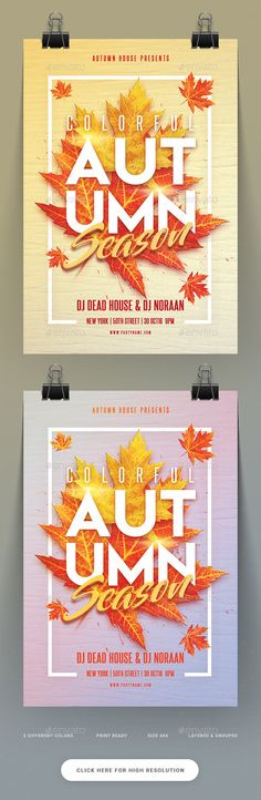 Autumn Season Party Flyer  — PSD Template #fall #graphic • Download ➝ https://graphicriver.net/item/autumn-season-party-flyer/18203630?ref=pxcr