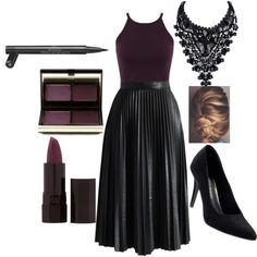 Untitled #707 by kalikutsch on Polyvore featuring polyvore fashion style Miss Selfridge Chicwish Posh Girl Kevyn Aucoin Serge Lutens Chanel