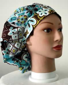 Hawaiian Flowers 4 Bouffant Surgical Scrub Hat by duehringphotocc, $5.00