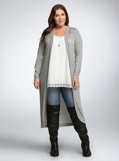 Plus Size Open Front Duster Cardigan {40% off}