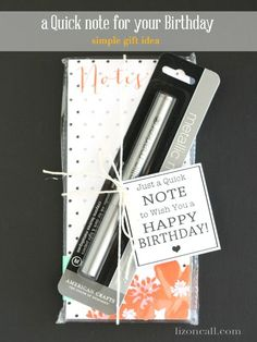 Quick Note for your Birthday Printable Gift Idea #birthday #gift #printable (lizoncall.com)