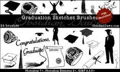 Graduation Sketches Brushes