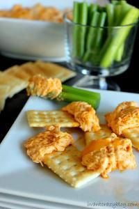 The Best Buffalo Chicken Dip  is great with crackers or vegetables.