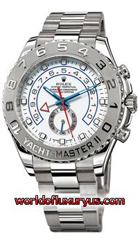 116689 - Rolex Oyster Perpetual Yacht-Master II Watches. 44mm 18K white gold case, 90 degree rotatable platinum Ring Command bezel, white dial, automatic movement with programmable countdown function, and Oysterlock bracelet. - See more at: http://www.worldofluxuryus.com/watches/Rolex/Yacht-Master-II/116689/641_756_4989.php#sthash.yls5muoz.dpuf
