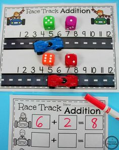 USING MANIPULATIVES IN MATH- just need adaptations for Right Start. Do you need Awesome Addition Worksheets and Centers for Kindergarten Math? Kids LOVE these fun, interactive math activities, and you will too. Kindergarten Addition Worksheets, Kindergarten Math Games, Subtraction Activities, Preschool Activities, Numeracy, Therapy Activities, Math Addition, Addition Games, Math For Kids