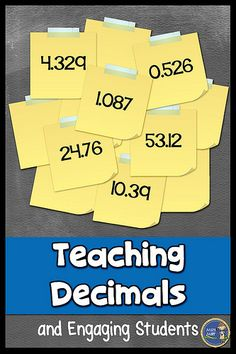 Engage your students when teaching decimals. This decimal activity allows your students to practice writing decimals, putting decimals in order, reading decimals, and rounding decimals. You'll also get them out of their seats and moving in math.