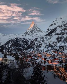 Travel + Leisure   Zermatt offers some of the Swiss Alps' most stunning scenery, with prime views of the Matterhorn 🗻#tlpicks courtesy of @filippo_cesarini