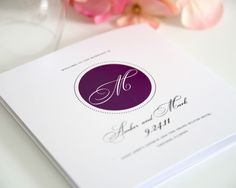 Circle Monogram Wedding Ceremony Programs - Wedding Programs by Shine