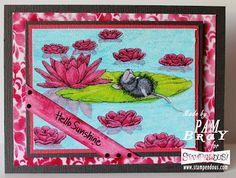 Scrapbook Flair: Pam Bray Designs: Hello Sunshine with Stampendous/Dreamweavers