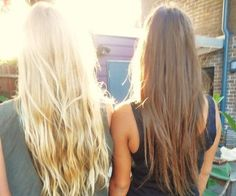 blonde and brunette hair