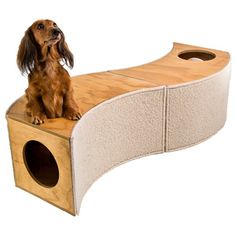 The stylish Peek-A-Boo Pet Tunnel is the perfect play tunnel, scratching post and hideaway! It's unique modular design means that you can create many different tunnel formations, and it will always remain an interesting place of discovery and security for your pet.  The Peek-A-Boo Pet Tunnel is ideal for cats, rabbits and small dogs.  You can purchase just one individual tunnel, or up to three to create the ultimate tunnel adventure (image has two tunnels) #Clevercreations @The Market NZ