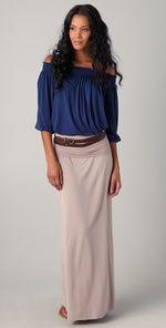 Boho- Cute long skirt and pleasant shirt