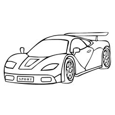 sports cars coloring pages for kids