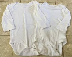 Baby Boy Girl 24 Months Carter's Long Sleeve White Onesies (lot Of Two) EUC https://t.co/sW4Uf2ZpF0 https://t.co/VGHzUeyJx2