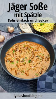 Jägersoße selber machen, Rezept – Well come To My Web Site come Here Brom Easy Dinner Recipes, Easy Meals, Mothers Day Dinner, Meal Planning, Curry, Food Porn, Good Food, Food And Drink, Lunch