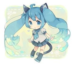 Find images and videos about kawaii, vocaloid and miku on We Heart It - the app to get lost in what you love. Anime Kawaii, Chibi Anime, Kawaii Chibi, Cute Chibi, Anime Manga, Anime Art, Kagamine Rin And Len, Kaito, Neko