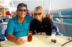 A 1996 photo taken of me and Carlos during a cruise around Greece.  Carlos was a…