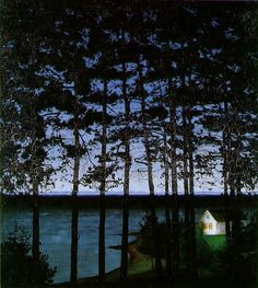Harald Sohlberg, Fisherman's Cottage (1906)