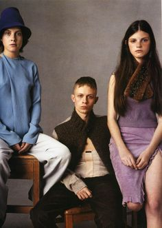 """""""The Group"""" photographed by Steven Meisel, Vogue Italia July 1999"""