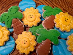 Tropical Decorated Cookies