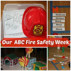 ABC Fire Safety Week Activities (from Little Bins for Little Hands)