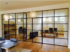 🏝 Or another day at the office? Create rest and quietness at your workplace with a steel windowframe. Steel Doors And Windows, The Doors, Sliding Doors, Industrial Office Space, Office Interiors, Modern Interior Design, The Office, Ramen, Home Decor