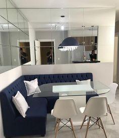 Small House Interior Design, Home Room Design, Dining Room Design, Living Room Colors, Home Living Room, Corner Seating, Room Partition Designs, Dining Room Bench, Home Decor Styles