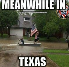 Meanwhile in Texas. The American flag! I thought Texas only used its state flag—thinking they are their own country and all. Good for you, Texas. I know that acknowledging you are part of the United States of America is fairly hard for you. Texas Meme, Texas Humor, Texas Pride, Texas Usa, Funny Memes, Jokes, Funny Stuff, Humor, Chistes