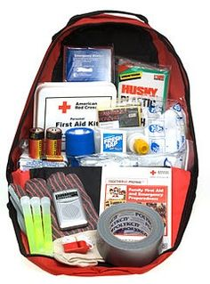 The suggested contents of a bug-out bag....
