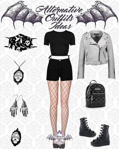 Gothic Outfits, Edgy Outfits, Cute Outfits, Alternative Outfits, Alternative Fashion, Goth Look, Kawaii Clothes, Back To Black, Mini Skirts