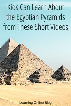 Your kids will enjoy learning about Egyptian pyramids from these short videos. #homeschool #history