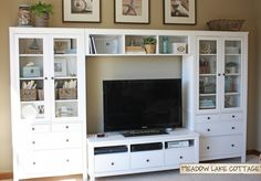 Accessorized White Entertainment Center